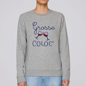 sweat gris chine femme grosse coloc