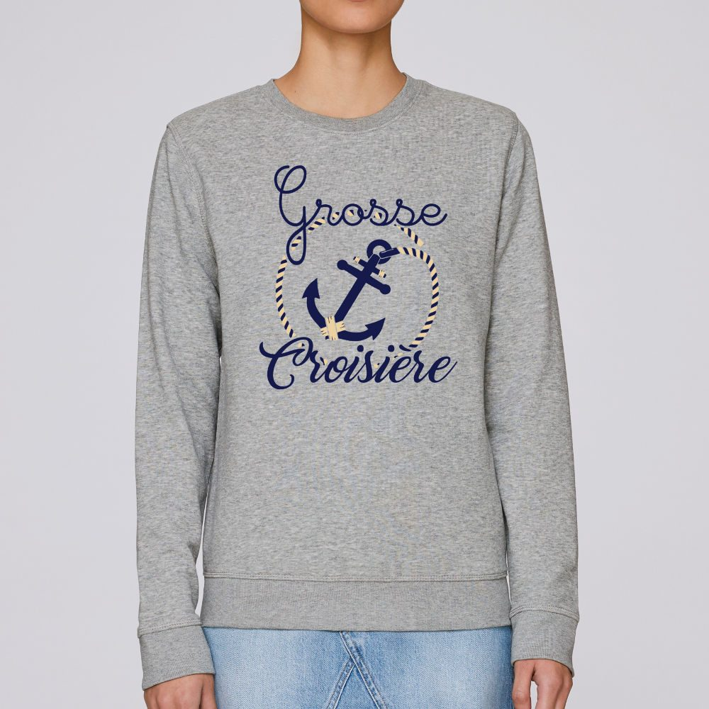 sweat gris chine mixte grosse croisiere