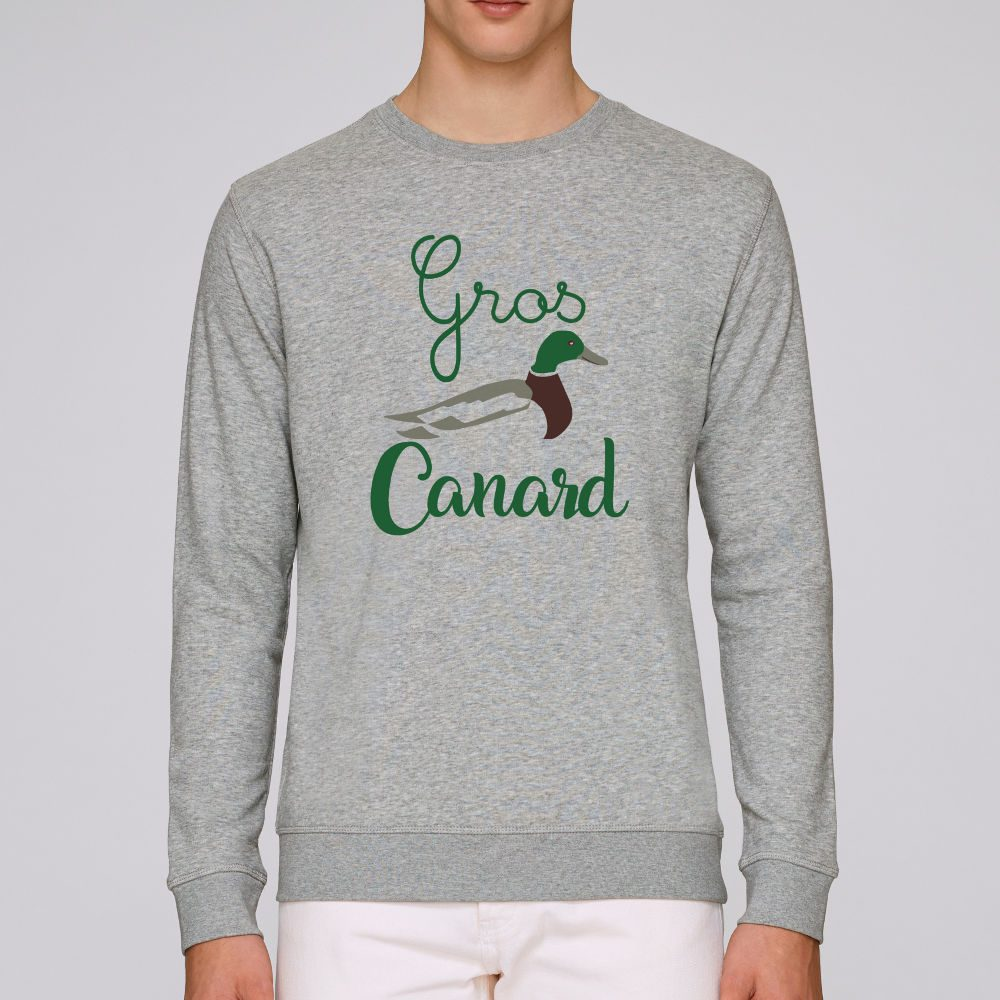sweat gris chine homme grosse canard