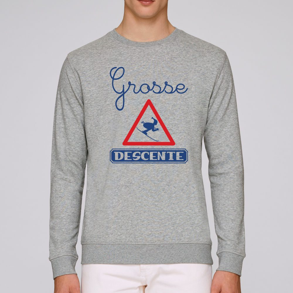 sweat gris chine homme grosse descente